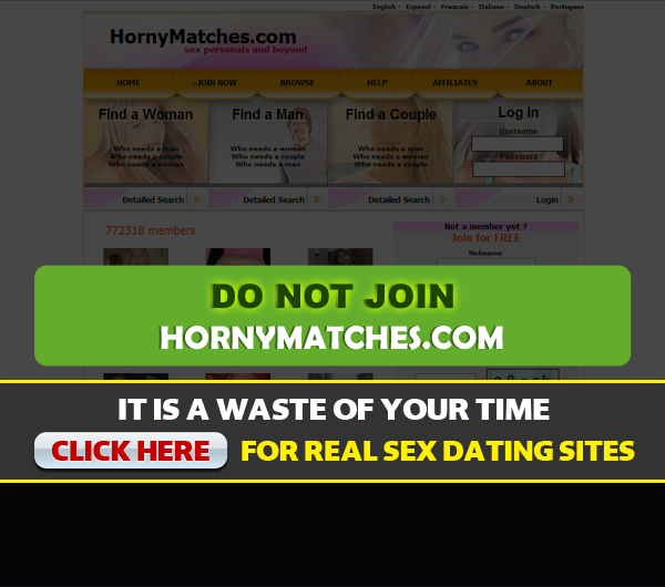 hornymatches.com homepage image